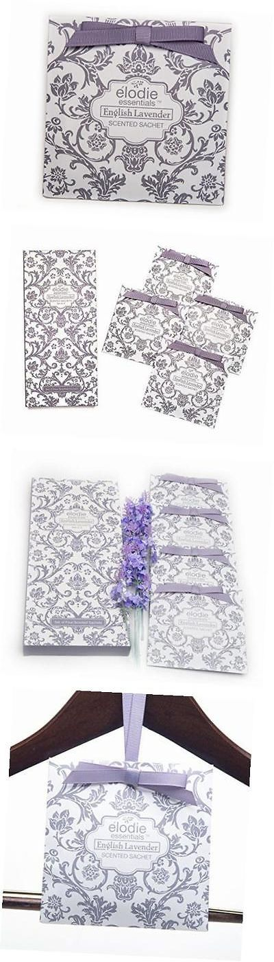 Potpourri 20555: English Lavender Scented Sachets - Set Of 4 Large Gift Boxed Sachets For Drawers -> BUY IT NOW ONLY: $31.9 on eBay!
