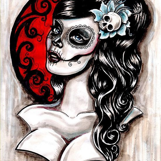 tattoo catrina beautiful catrina tattoo sugar skull tattoo realistic catrina tattoo of girl. Black Bedroom Furniture Sets. Home Design Ideas