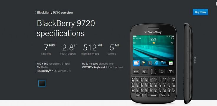 Blackberry 9720 Touch screen mobile launched - TechAmender