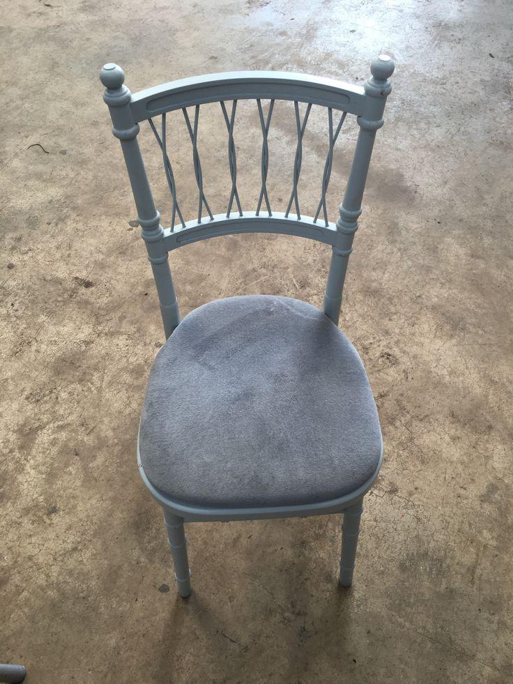 Dove Grey Chantilly Wedding Chair