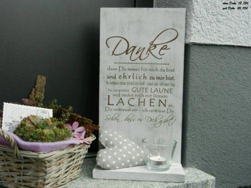 Deko Schild Danke in Eschenburg