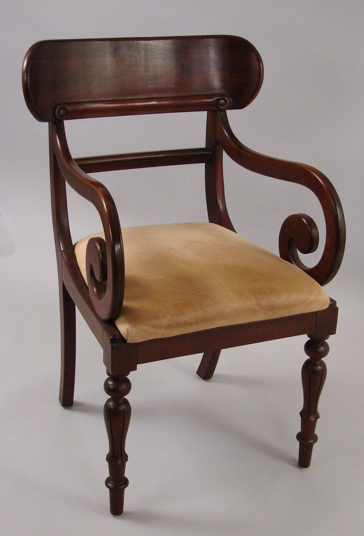 F615-8 | A Ralph Lauren inlaid mahogany side chair with a drop in leather - 22 Best Antique Chairs Images On Pinterest Antique Chairs