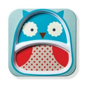 Skip Hop Owl Zoo Divided Plate