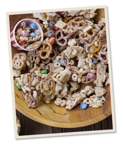 Sweet, salty, crunchy, this party mix is chock-full of all the good stuff your guests will love.  @David Venable QVC @QVC