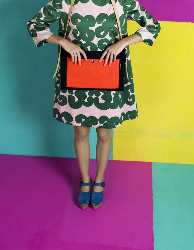 Taima dress, Olga shoulder bag / Marimekko S/S 14