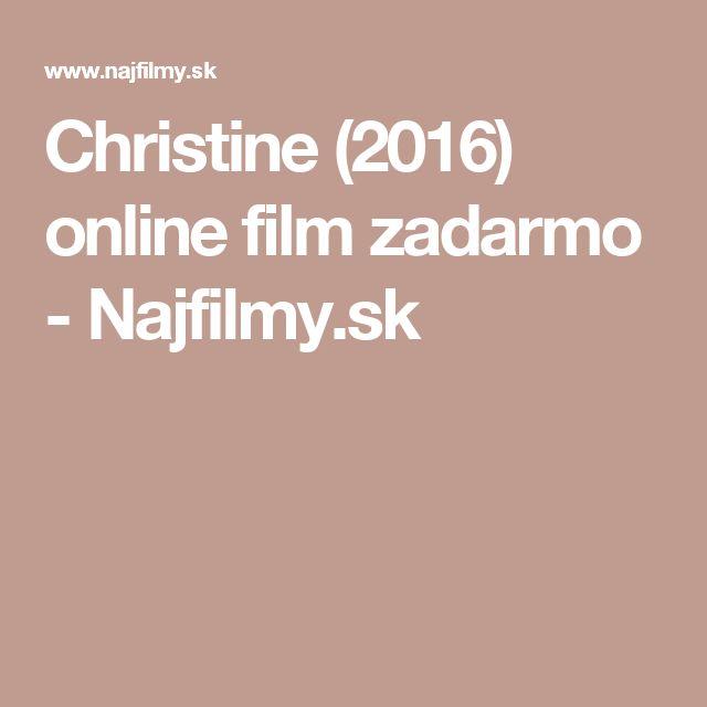 Christine (2016) online film zadarmo - Najfilmy.sk