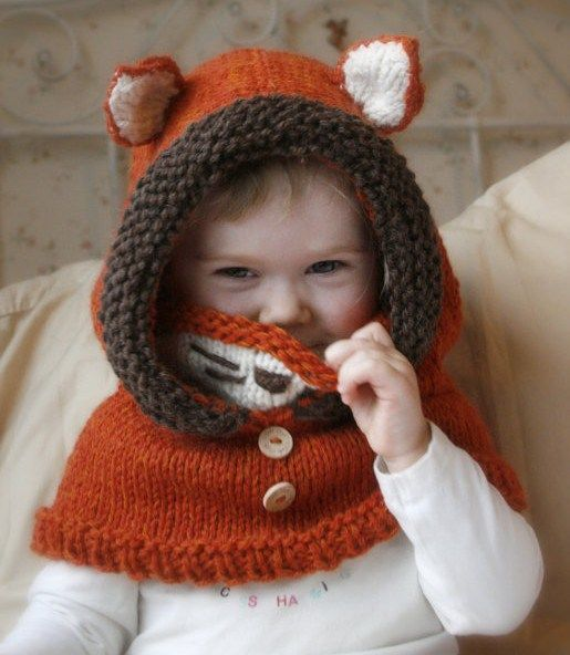Fox Hood Cowl Knitting Pattern