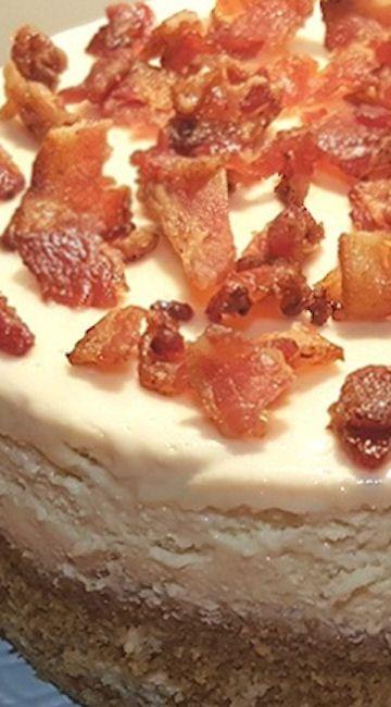 Pressure Cooker Maple Bacon Cheesecake
