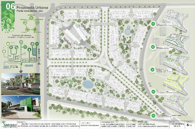 Propuesta urbanistica . Planta tipica segundo nivel.