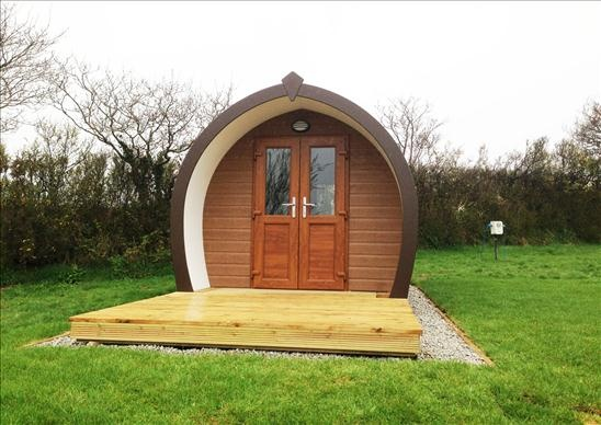 Amazing new camping pod arrived March 2013, beautiful, warm and spacious book now from £38 a night sleeps 4 Tel 01726 882540