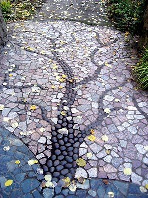 Mosaic garden path in Seattle #NWFGS