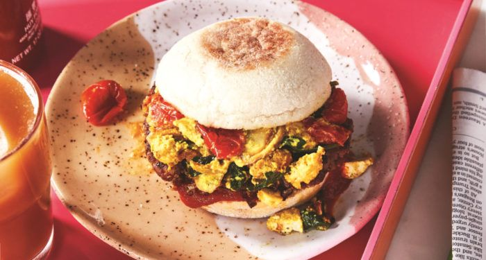 Drive Thru Breakfast Begone This Breakfast Sandwich Takes First Prize In Flavor Texture And Nutrition Breakfast Sandwich Recipes Recipes Vegan Recipes