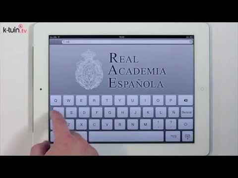 #app #ipad #DRAE, diccionario de la #Real #Academia de la #Lengua #Española