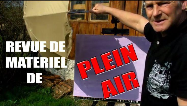 Pascal Clus Revue de mon materiel de peinture en plein air