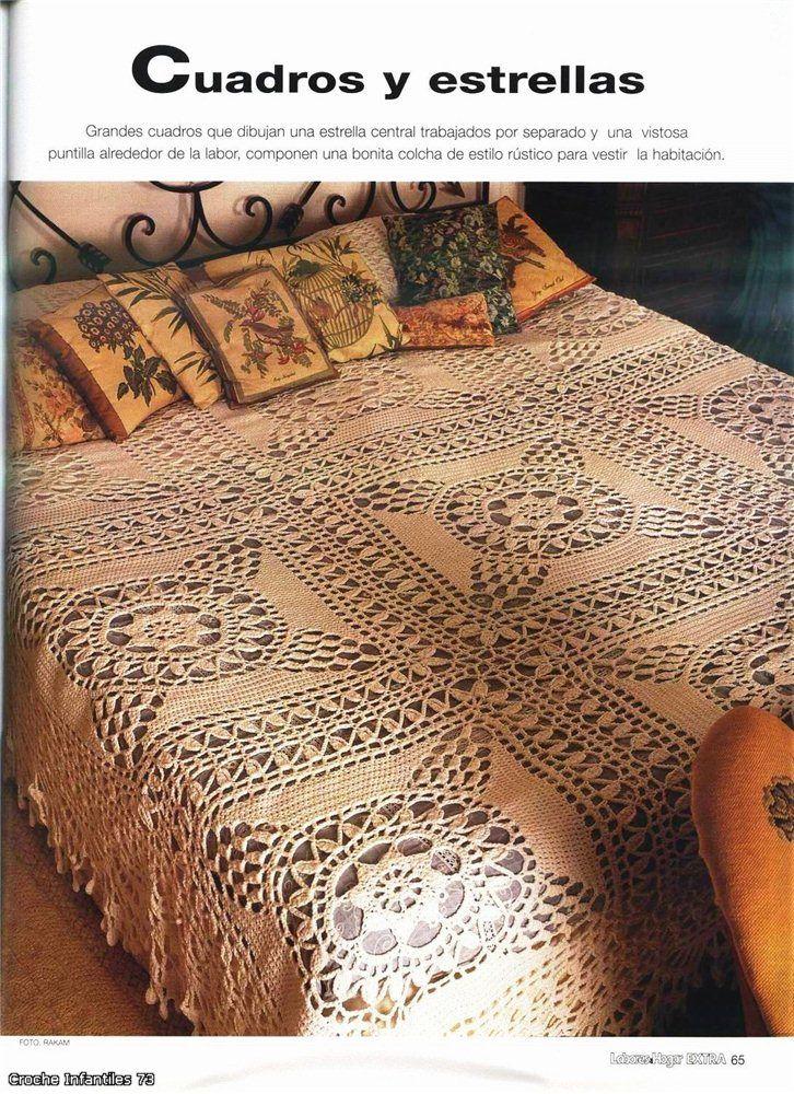 1228 mejores im genes de mantas crochet en pinterest - Colchas a ganchillo muestras ...