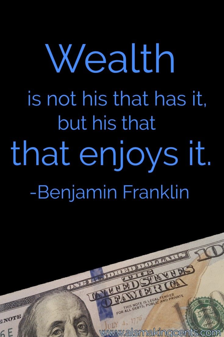 Ben Franklin Motivational Money Quote From Als Making Cents Wealth