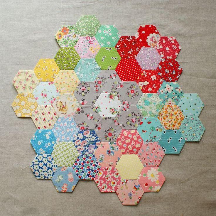 !Crafty Stuff, Sewing, Hexie, Crafts Ideas, Quilt, English Paper, Paper Piece, Nana Company, Nanacompany Hexagons