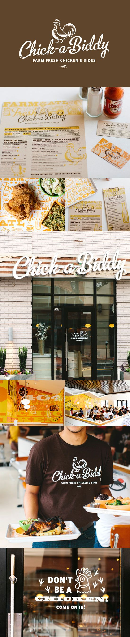"""Chick a Biddy"" - 55 Brand Identity Design Examples for Restaurant 