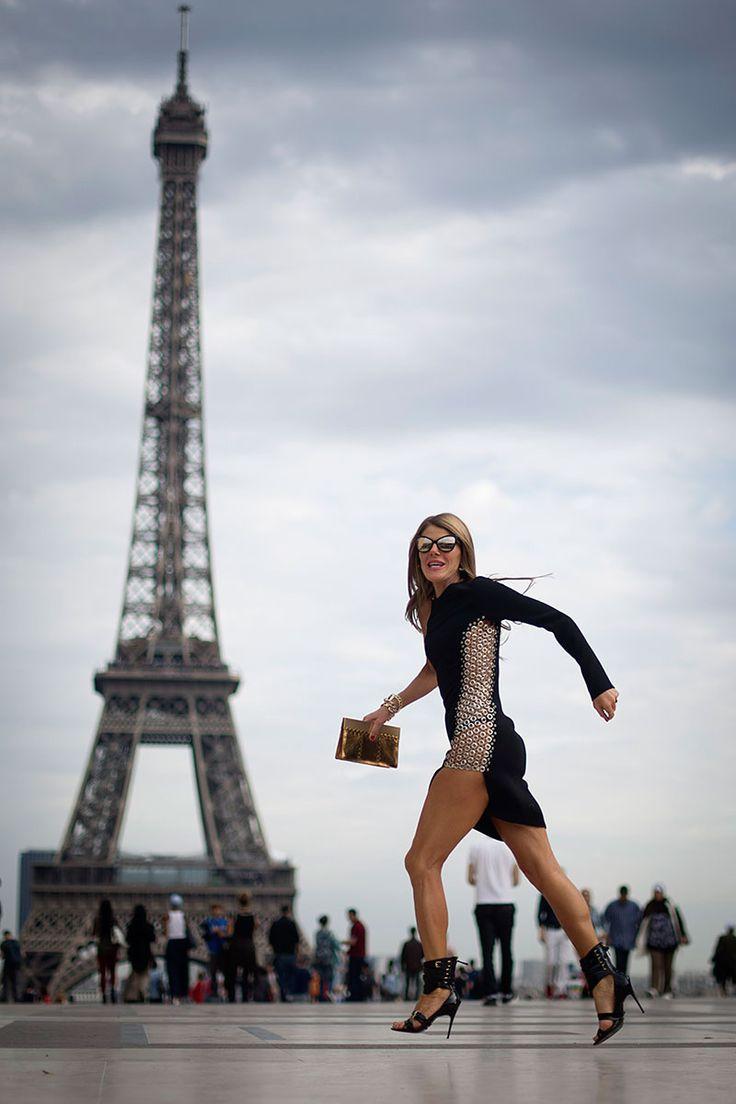 Anna Dello Russo en Paris
