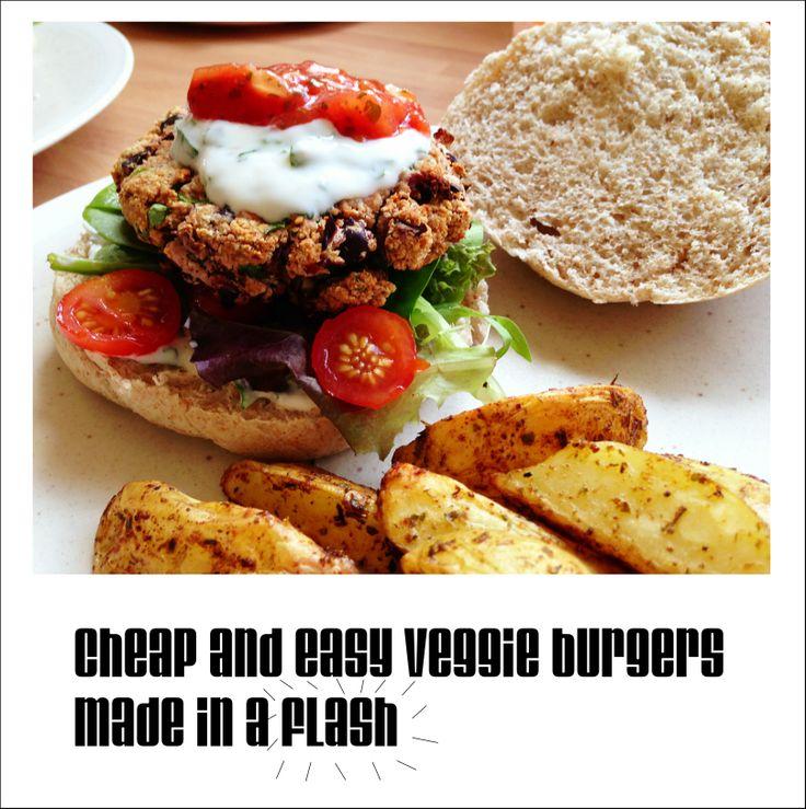 Easy veggie burger recipe that kids can make.