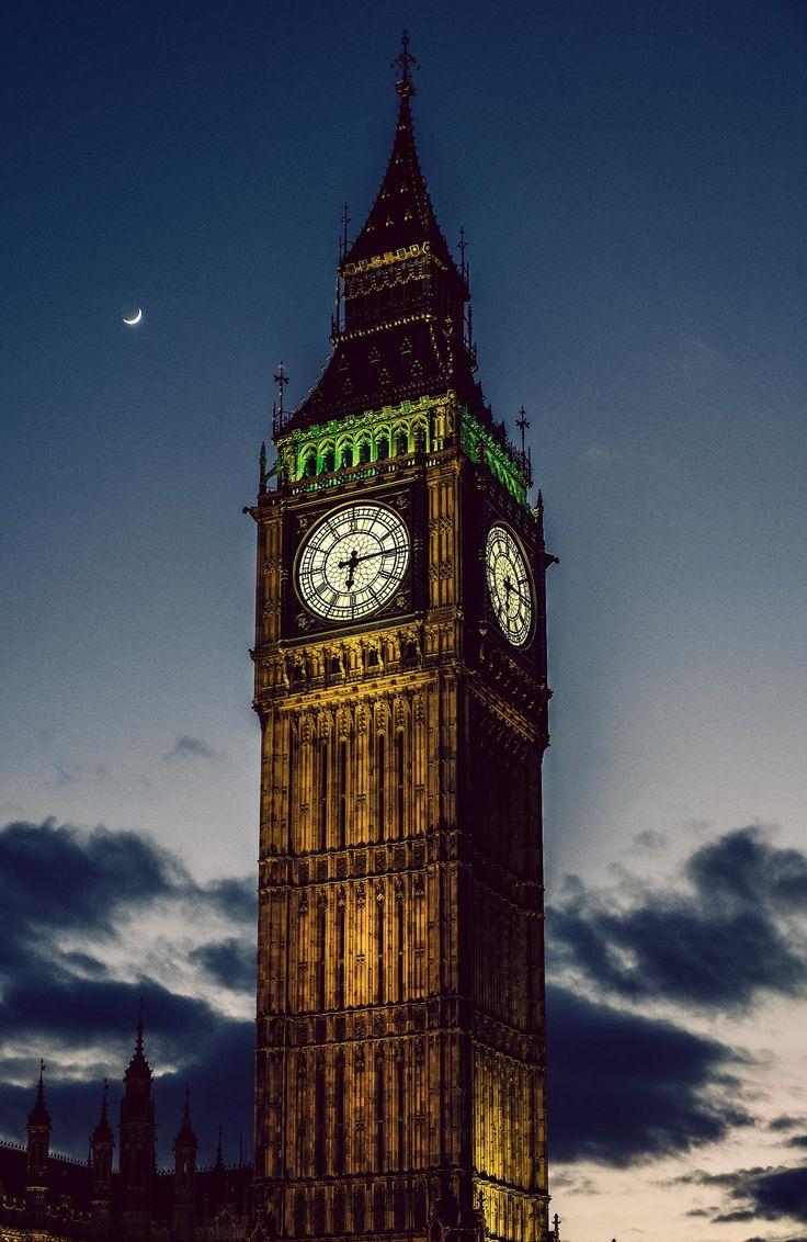 Big Ben & Moon by Bryan Minear on 500px