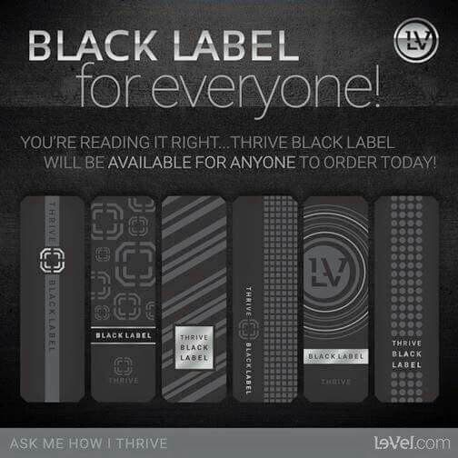 Thrive Black Label! Total Domination! https://www.hclark13.le-vel.com