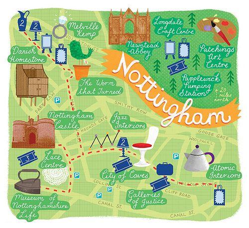 Nottingham Map | Flickr - Photo Sharing!