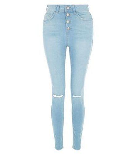 Compras Online - Azul Jeans Rasgados Flacos De Rodilla , SKU 333665€71.30 :