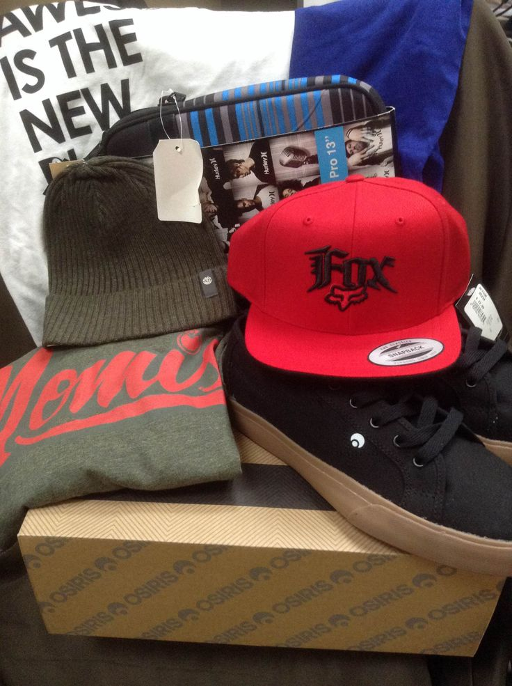 Day 37 of 40 Days of Giveaways. Action is giving away sz 10 mens Osiris shoes, Hurley MacBook Pro Sleeve, Element Toque, Fox hat, Ladies orb tshirt ( small ) and orb tank top ( OS ) along with a mens Large Nomis Tshirt.