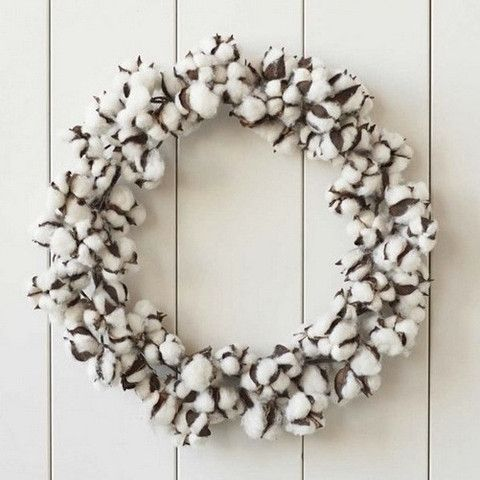 "Holiday Cotton Wreath, 20"" – Urban Poppy"