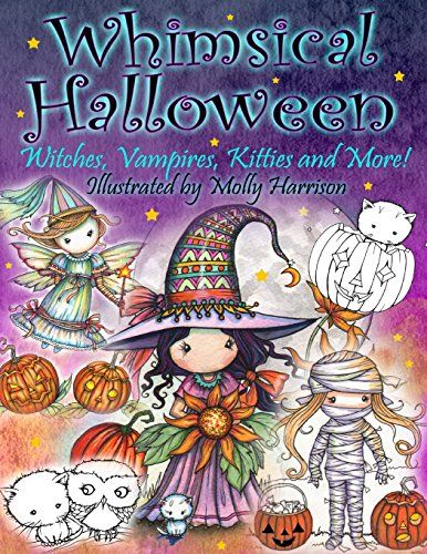 Whimsical Halloween Coloring Book: Witches Vampires Kitties and More! @ niftywarehouse.com #NiftyWarehouse #Halloween #Scary #Fun #Ideas