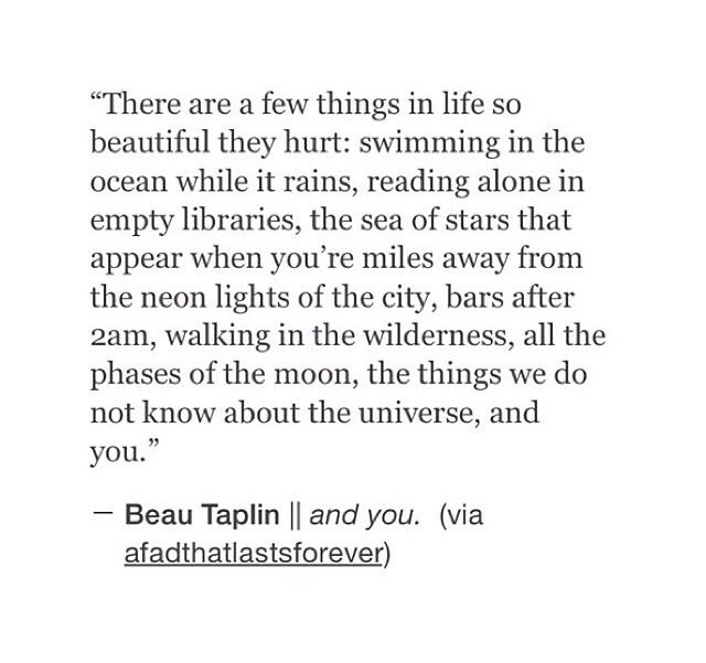 There are few things in life so beautiful that they hurt....