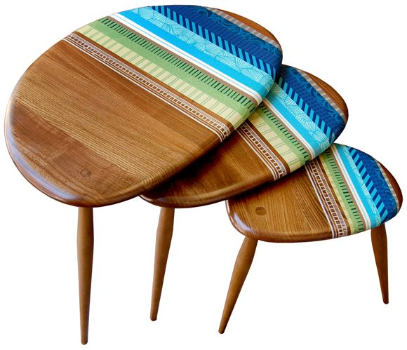 Attractive Zoe Murphyu0027s Nest Of Recycled Side Tables: Zoeu0027s Upbeat Furniture And  Textiles Make Use Of