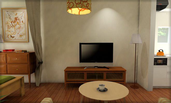 9畳ワンルームのベッドにカーテンで仕切りを作る 実例3