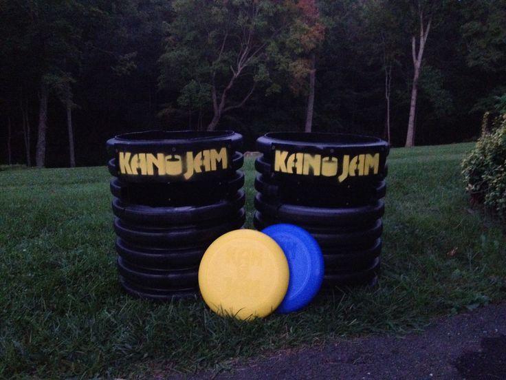Homemade kanjam from drainage pipe #kanjam #lawngames #diy