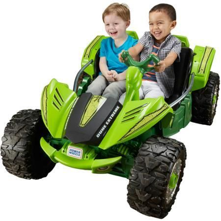 Toys Kids Bike Fisher-Price Power Wheels Dune Racer Extreme Ride-On Green - Ride On Toys & Accessories