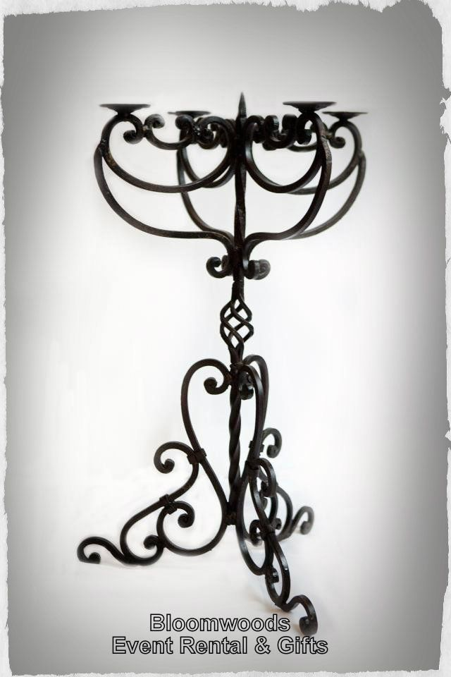 Bloomwoods Flowers - Wrought Iron Tabletop Candelabra, $45.00 ...