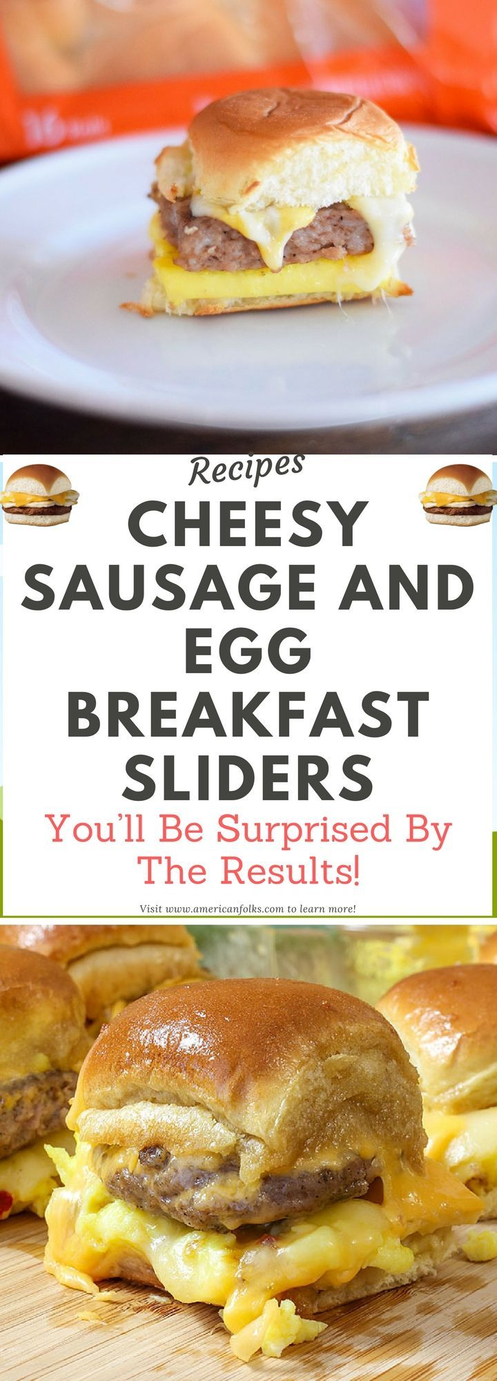 Cheesy Sausage and Egg Breakfast Sliders!!! !!!