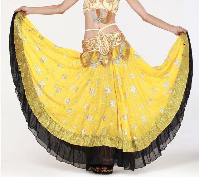 12 шт. / lot этнический цыганский пресс танец костюм юбка танцы широкий и большие платье 7 цветов u выбрать qc1294