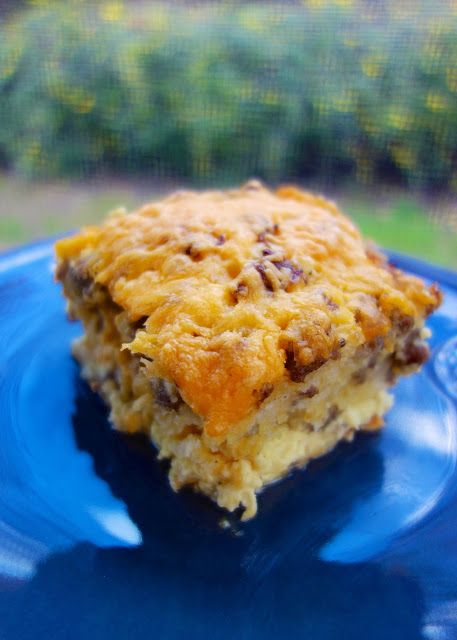 Sausage, Egg & Biscuit Breakfast Casserole - frozen biscuits, sausage, cheese and eggs - quick assembly - can make ahead and cook later.
