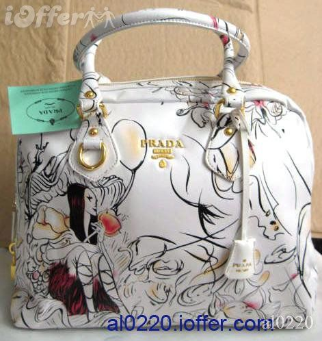 PRADA FAIRIES FAIRY WHITE BOWLING HANDBAG BAG PURSE: Fairies Bags, White Bowls, Bowls Handbags, Fairies White, Bags Pur, Prada Handbags, Prada Fairies, Fairies Fairies, Handbags Bags