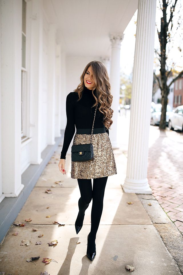 Sequin Skirt + T3 Curling Wand Giveaway!