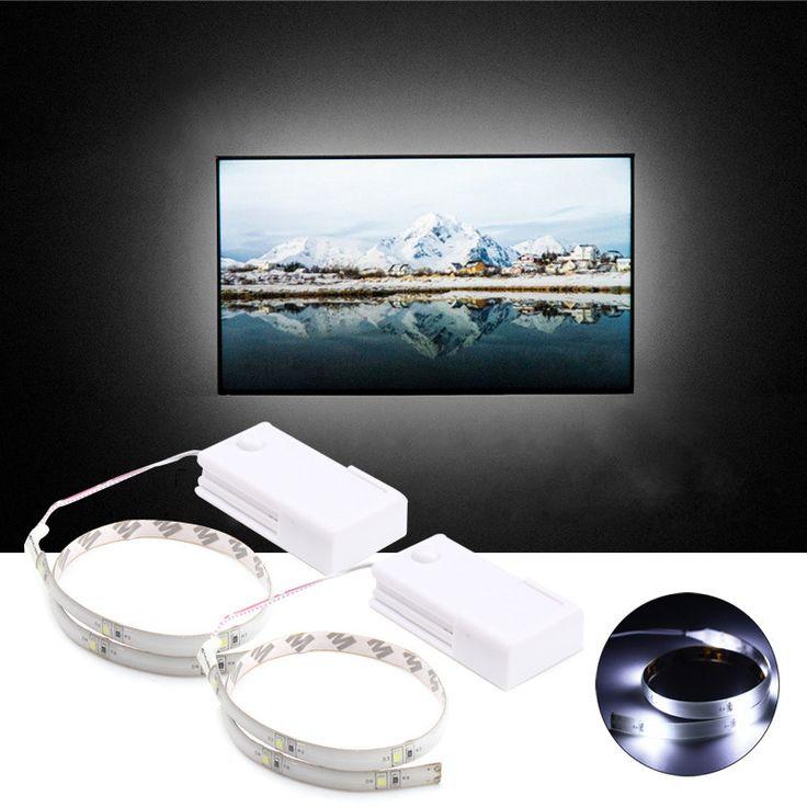 2PCS 35CM Battery Powered LED Strip Light Cabinet Closet Wardrobe TV Background Lamp