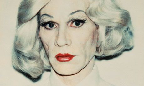 Andy Warhol, self-portrait in drag, 1981 (photo: The Andy Warhol Foundation)