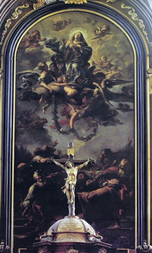 Petr Brandl - Nanebevzetí Panny Marie - kostel sv. Vavřice, Vysoké Mýto - 1728