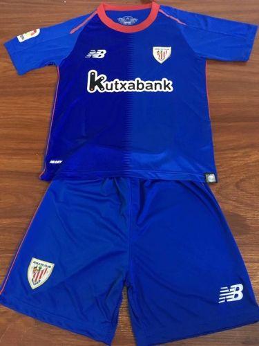 698f5f674 2018-19 Athletic Bilbao Away Blue Youth Kids Soccer Uniform