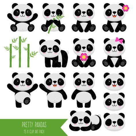 Imágenes Prediseñadas de Panda oso Panda Clip Art
