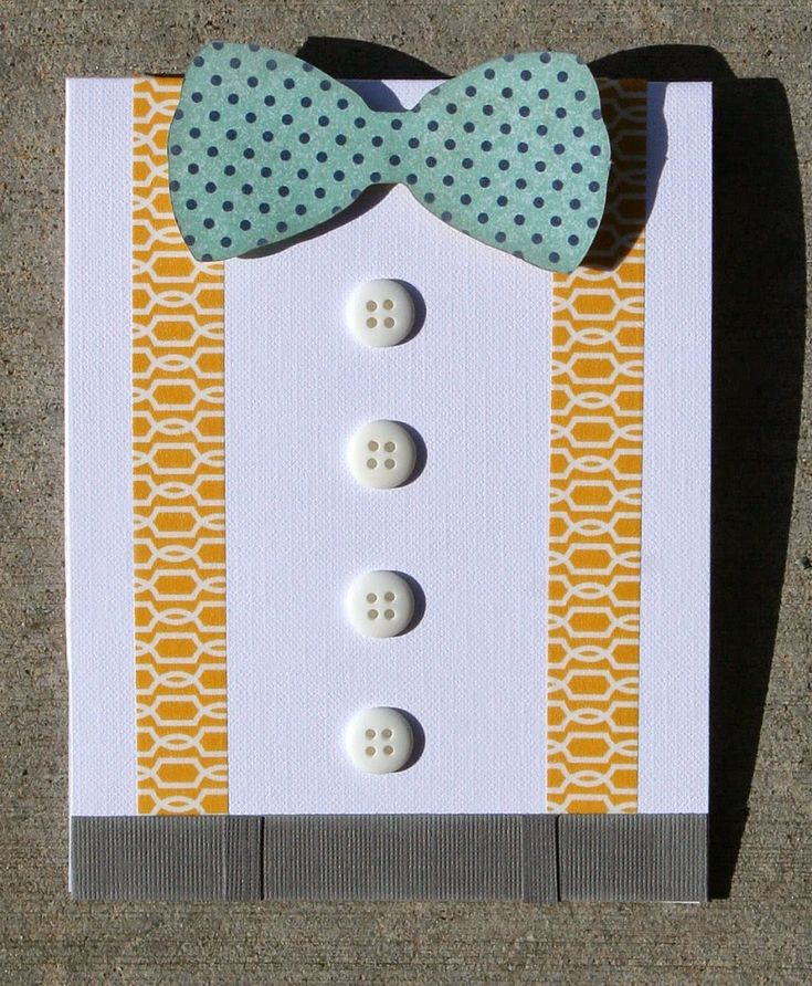 Easy handmade Father's Day Card. Cute washi tape idea for a handmade card.