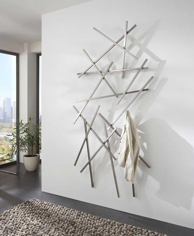 Cool Edelstahl Design Wandgarderobe Matches von Spinder Design hier online bestellen