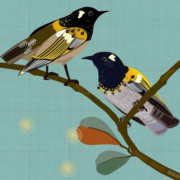 Loyal Hihi New Zealand Folk birds series Edition of 45 From NZ$145